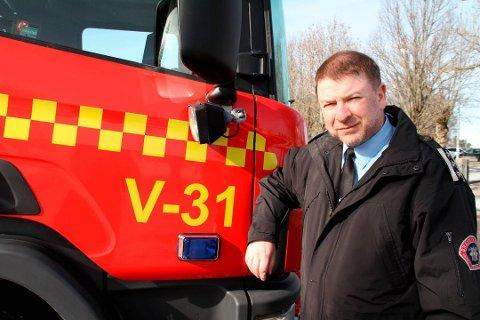 STYRKET: Per Olav Pettersen, brannsjef i Vestfold interkommunale brannvesen (VIB), mener rapporten som Vestfold kommunerevisjon har utarbeidet, er en god rapport og at VIB kommer styrket ut. (Arkivfoto)