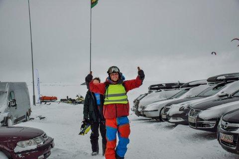 NYVALGT: Edvard Andersen under NM i Kite 2019, et arrangement som NTNUI Kite arrangerte i mars. Foto: Ole Eftang