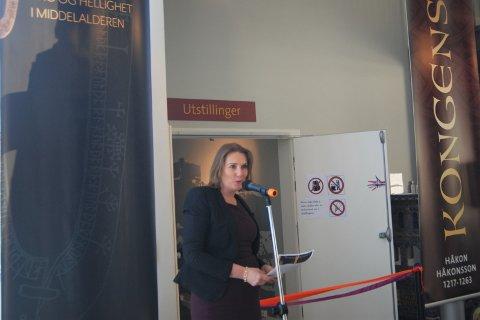 STORYTSTILLING: Lena Fahre åpnet utstillingen «Lux - Tro og hellighet i middealderen».