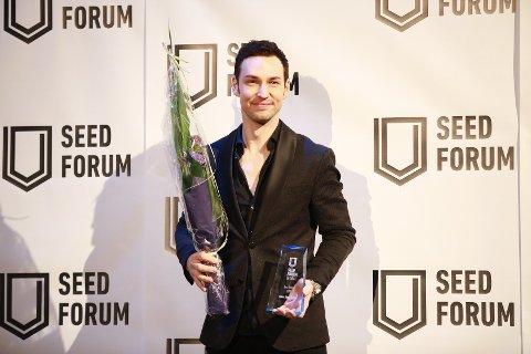 FIKK PRIS: Alexx Alexxander fikk prisen under Seed Forums gallamiddag på Det Norske Teatret tidligere denne uka.