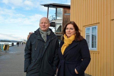 BYGGESAKENE: Tidligere TB-journalist Morten Wang og nåværende TB-journalist Emira Holmøy skal holde foredrag om «Tjøme-saken»