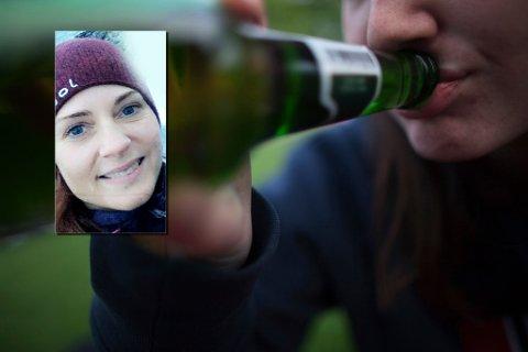 MOR: Marianne Sæther Langseth mener mye ble gjort riktig når det plutselig strømmet nærmer 100 ungdommer til privatfesten. Illustrasjonsfoto: Kyrre Lien og privat (innfeldt)