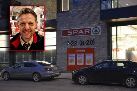 MYE TYVERI: Det var hos Freddy Svendsen på Spar Kaldnes de mistenkte øltyvene hadde forsynt seg. Svendsen kan fortelle at butikken har hatt mye tyveri.