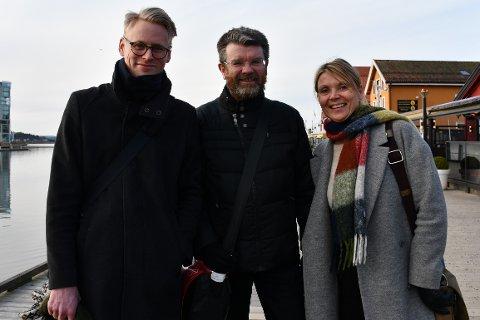 ENGASJEMENT: (f.v.) Johan Jordtveit, Gunnar Ridderstrøm og Lene Stenersen håper å se mange engasjerte Tønsbergensere på debattmøtet.