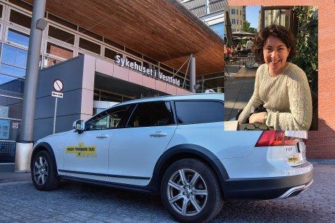 Merethe Aas er daglig leder for Tønsberg Taxi og har måttet permittere ansatte etter at skolene stengte.