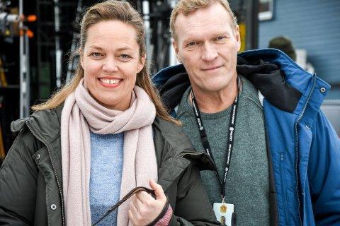 SKUESPILLERE: Ingri Enger Damon og Sven Nordin spiller henholdsvis Else Britt Gusland og William Wisting i TV-serien «Wisting».