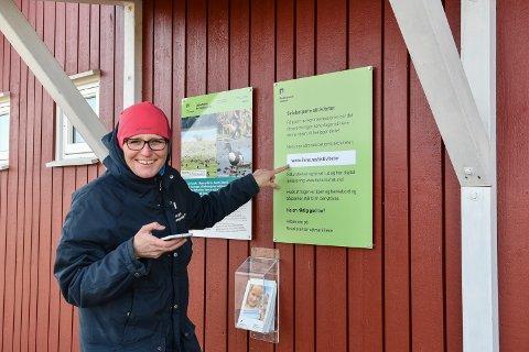 Besøkssenteret ligger på Ilene i Tønsberg, og der jobber Birgit Brosø som naturformidler.