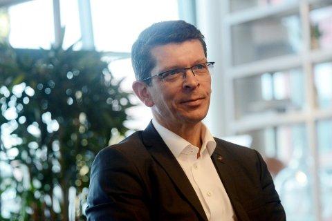 SOLID: Konsernsjefen i Kongsberg Gruppen, Stokke-mannen Geir Håøy, kan notere en sterk start på 2020. Høyteknologikonsernet har klart å holde god fart også under koronakrisen.