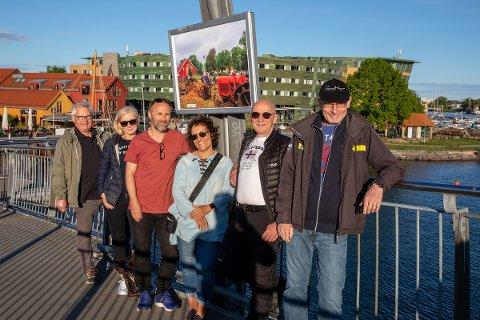 FORNØYDE: f. v.: Erik Tandberg, Kristin B. Flote, Bjørgulf Brevik, Eva Berg, Dag Omland og Gunnar Haug i Tønsberg Kameraklubb.