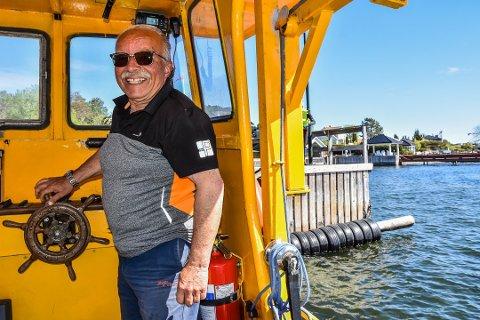 SKIPPER: Skipper Øistein Johansen ombord på «Ole III».