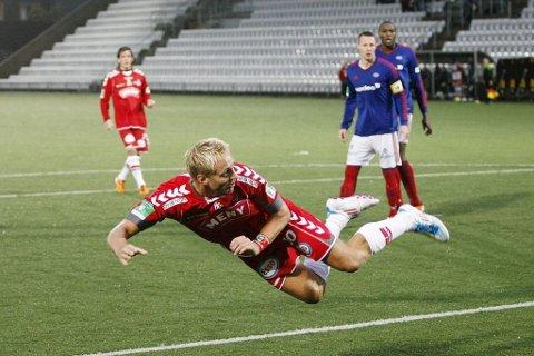 Reidar Lindqvist har scoret mange mål i sin karriere. Her fra tiden i FK Tønsberg.