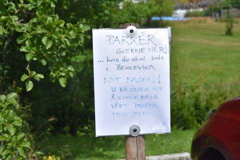 VEL MYE: Tønsbergs Blads dekning av åpningen for gratis parkering ved Bekkevika ble i meste laget, mener innsenderen.
