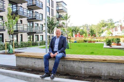 KALDNES-SJEFEN: Rune Thomassen er regionsjef for Selvaag Bolig. Nå har de fått en uavhengig rapport om utbyggingen. – Det er mange som har ment mye om Kaldnes, sier han.