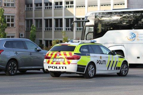 RYKKET UT: Politiet rykket ut til Borgheim etter melding om slagsmål.