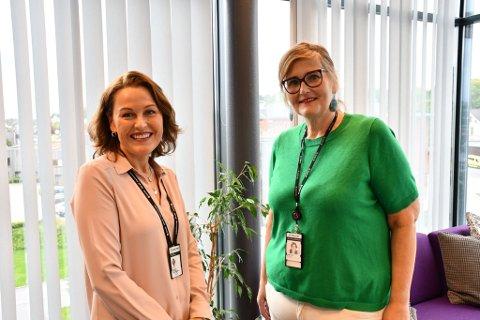 Hilde Krogsbøl Bjønness og  Jeanette Ammeli Indreiten ved Statens Barnehus i Sandefjord sitter på en tjeneste de håper at flere av de som jobber med barn vil merke seg.