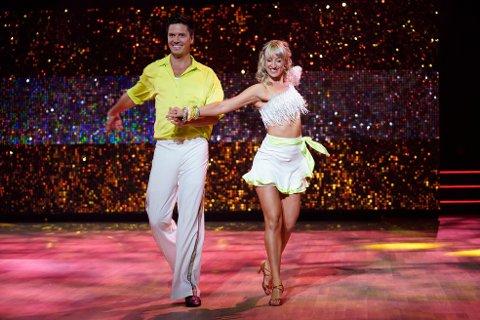 VIDERE: Andreas Wahl og Mai Mentzoni er videre i «Skal vi danse». Bildet er fra en tidligere sending.