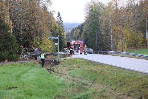 Ulykken skjedde nær Lågendalsveien nummer 4761, ved tidligere Hem skole.