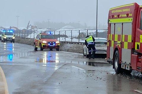 E18: Flere biler var involvert i ulykken.