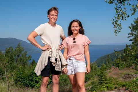SOMMERHYTTA: Adrian Middelthon (24) fra Tønsberg er klar for «Sommerhytta» sammen med venninnen Christine Kirkhorn (26) fra Asker.