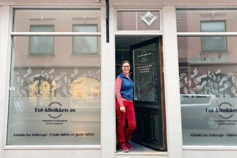 NY KLINIKK: Randi Haukebøe ser frem til å ønske pasientene sine velkommen til den nye klinikken i Kammegaten etter påske.