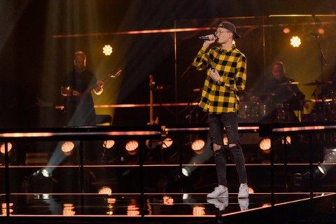 GIKK VIDERE: Einar Christiansen (21) fra Andebu gikk videre i The Voice i kveld.