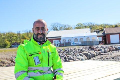 DELVIS STENGT: Gjestehavna på Østre Bolærne er delvis stengt i påsken. Driftsleder Alex Rossitto håper at folk følger reglene som gjelder.