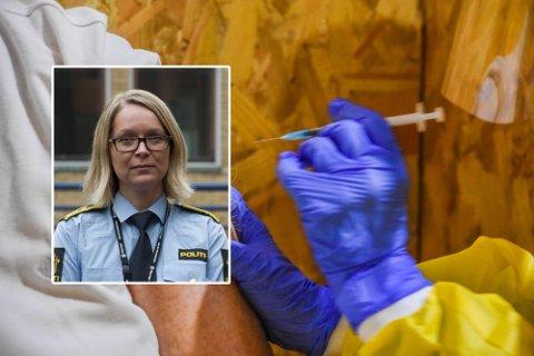 AVHØR: Politijurist ved FSI i Sør-Øst politidistrikt, Cecilie Reinskau Svorstøl, uttaler at de to som brøt karantenen da de møtte til vaksineringstime skal avhøres.
