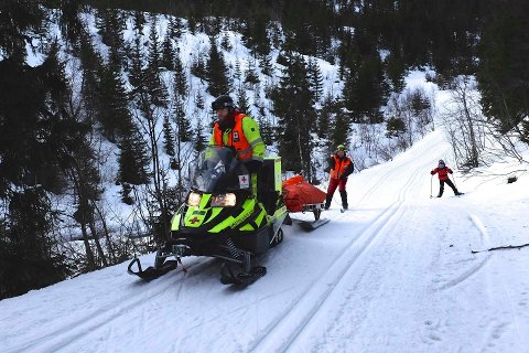 LITE Å GJØRE: Røde Kors har vært involvert i samband med kun to skader på Skrim denne påsken. Bildet er tatt ved en tidligere anledning. Foto: Kjell Hovde