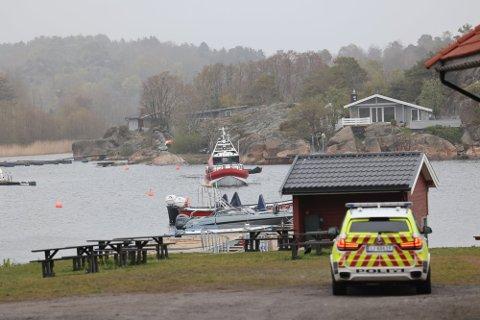 HAVARI: Det var i dette området at to elever havnet i det iskalde vannet under kanotur.