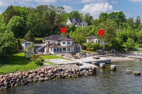 SOLGT: Markedet for eiendommer i strandkanten er hett for tiden. Denne boligen i Åsgårdstrand ble lagt ut med en prisantydning på 22,4 millioner.