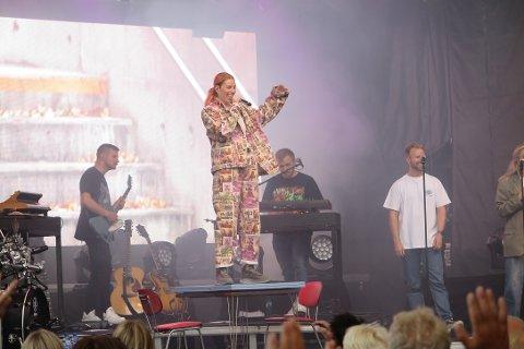 HAR SPILT KONSERT: Arrangementet som deles på Facebook skriver at Gabrielle skal ha konsert i Foynhagen i kveld. Det stemmer ikke, for hun spilte nemlig i Tønsberg i juni. Her fra årets konsert.
