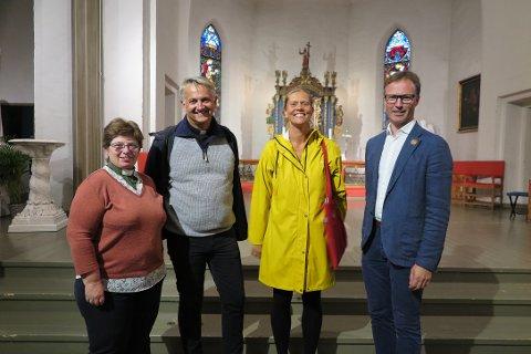SAMARBEID: (f.v) Tonie E. Steffenson, Jan Terje Christoffersen, Cecilia Gustavsen og Sigurd Hareide gledet seg til å feire olsok.