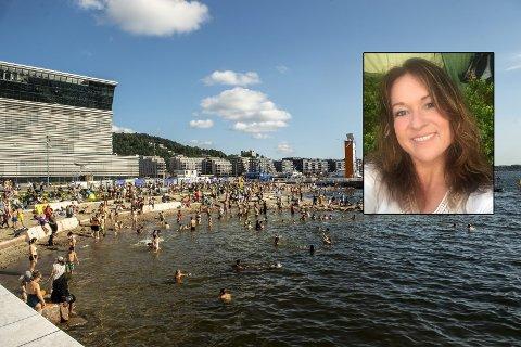BAKTERIER I BADEVANNET: Flere har blitt smittet av kjøttetende bakterier etter å ha badet i Oslofjorden i sommer. Line Angeloff i FHI har gode råd til badere.