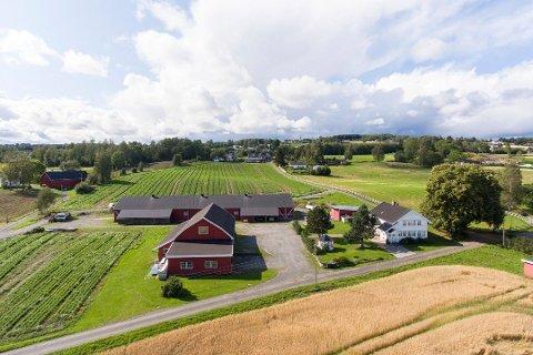 MANGE MULIGHETER: Gården på Kapp har jord og bygningsmasse som gir mange ulike muligheter for videre drift for de nye eierne.