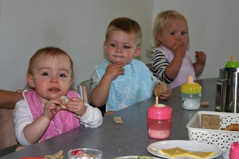 INGEN SERVERING: Vestre Toten kommune har sendt brev til foreldrene i de kommunale barnehagene med beskjed om at de vil fortsette å be om at barna har med seg mat til alle måltider hjemmefra. Klagene har vært få, i følge barnehagesjef Gunn K. Roterud.