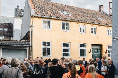 Fra en tidligere byvandring i Det jødiske Trondheim.