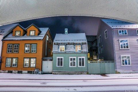 TETT: Trehusene i sentrum står tett, og har behov for særlig vern. Bildet er fra Storgata.