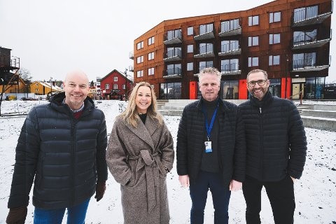 MEGLERE: Terje Opland, Wenche Odden Kvamme, Trond-Erling Jensen og Dag LIttle fra eiendomsMegler1.