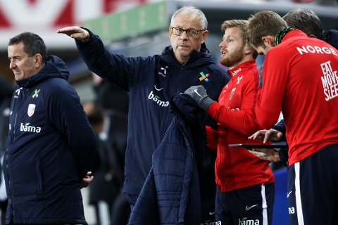 Lars Lagerbäck under Nasjonsliga-kampen i fotball mellom Norge og Nord-Irland på Ullevaal stadion.