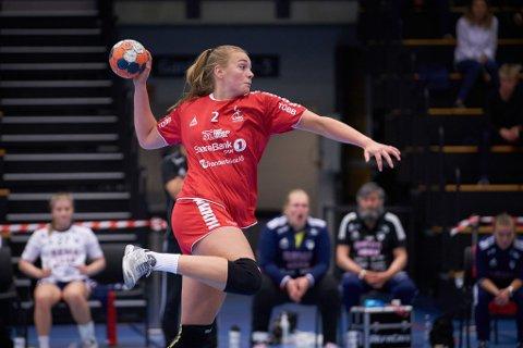 HERJET: Runa Sand scoret 14 mål i seieren mot Randesund lørdag.