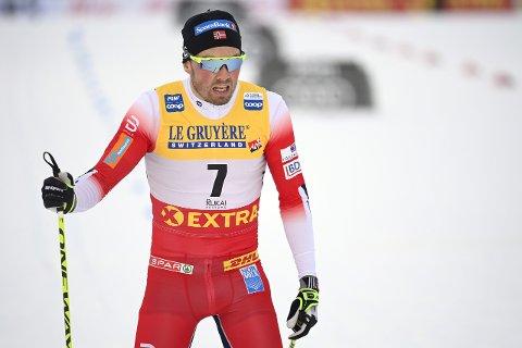 BLE TRE: Emil Iversen slo tilbake under verdenscupåpningen i Finland.