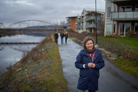 GÅGRUPPE: – Jeg har merket selv hvor godt og viktig turer utendørs har vært de siste månedene, sier leder for Verdal sanitetsforening, Marita Nergård Gustad.