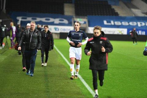 KLAR FOR LFK: Arne Gunnes (23) er klar for Levanger FK. Her fra da han prøvespilte for LFK mot Rosenborg på Lerkendal.