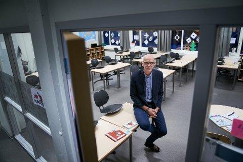 ALVORLIG: Geir Mediå, rektor ved Frol barneskole er overrasket over at så mange barn er blitt smittet ved skolen.