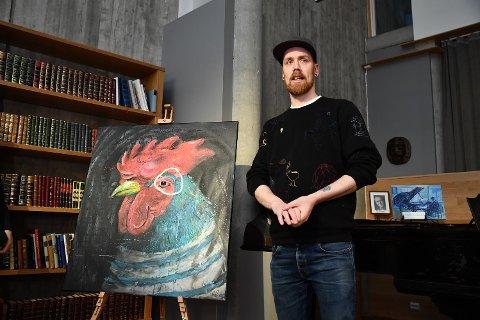 FIKK GLADNYHET: Ståle Gerhardsen etterlyste stjålet kunstverk. Nå er det funnet.  Kunstverket på bildet er ikke bildet som ble stjålet.