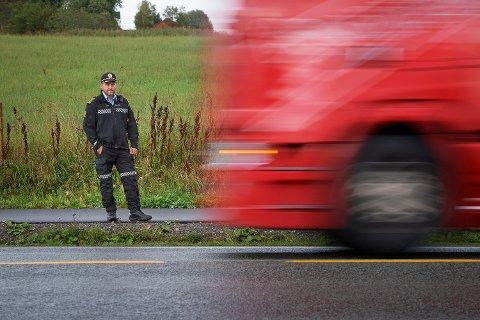 MER FOKUS PÅ FART: Distriktsleder Anders Sjøtrø i UP Midt sier de vil bruke enda flere ressurser til å få ned farten på trønderske veger i året som kommer.