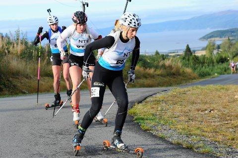 FJERDEPLASS: Kjersti Kvistad Dengerud ble nummer fire under søndagens fellesstart i NM i rulleskiskyting.