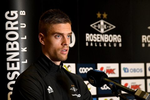 TILBAKE: Markus Henriksen ble presentert på Scandic Lerkendal mandag formiddag. Nå gleder han seg til å komme i gang igjen, og første utfordring kommer allerede på torsdag når RBK møter PSV i Europa Leauge.playoff.