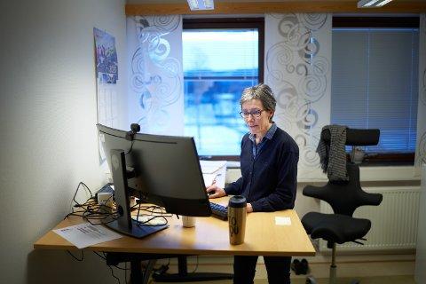 INGEN AKTIV SMITTE: Kommuneoverlege i Verdal Ragnhild Holmberg Aunsmo forteller at både vaksineringen og smittebildet ser ut til å være på stell i kommunen.