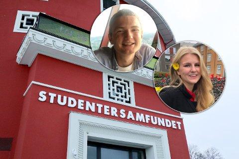 Sondre Neteland (22) og Elly Emma Hesjevik (20) er blant de som søker nye venner gjennom Samfundets vennespleising.